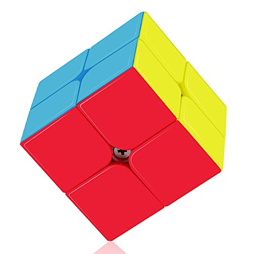 ROXENDA Speed Cube Profession 2x2x2 Speed Cube - Schnelles Glattdrehen - Solid Durable & Stickerless Matt, Bestes 3D Puzzle Magic Toy - Schaltet schneller als Original