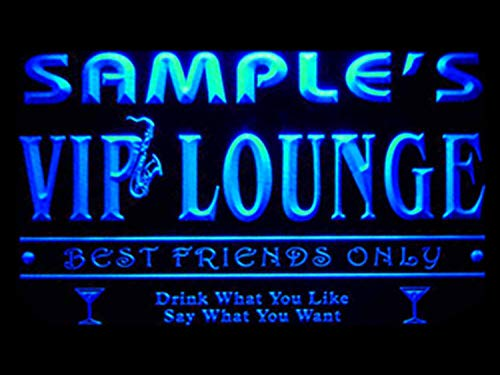 Nom ADVPRO Personnalisé Salon VIP Personnalisé Meilleurs Amis Seulement Bar Bière Enseigne Néon Bleu 16x12 pouces st4s43-qi-tm-b