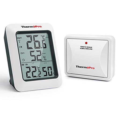 ThermoPro TP60S Termómetro Higrometro Digital para Interior y Exterior Termohigrómetro Inalámbrica con...