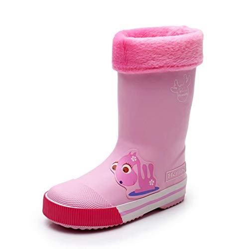 nikec Zapatos de lluvia para niños, para estudiantes, lluvia, para bebé, de goma, antiskating