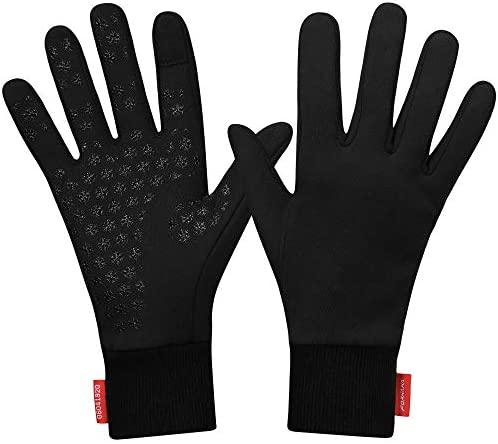 Forhaha Waterproof Splash Resistant Sports Running Gloves Touch Screen Lightweight Liner Gloves product image