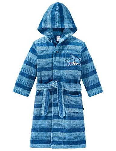 Schiesser Jungen Capt´n Sharky Bademantel, Blau (Blau 800), (Herstellergröße: 104)