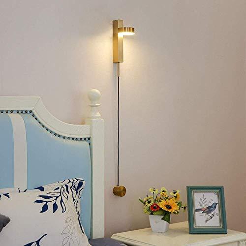 UWY Lámpara de Pared LED para Arriba Abajo Lámpara de Pared de Simplicidad Moderna Aplique para Luces de Sala de Estar Lámparas de Dormitorio Iluminación de Pared de Pasillo Ajustable, Dorado