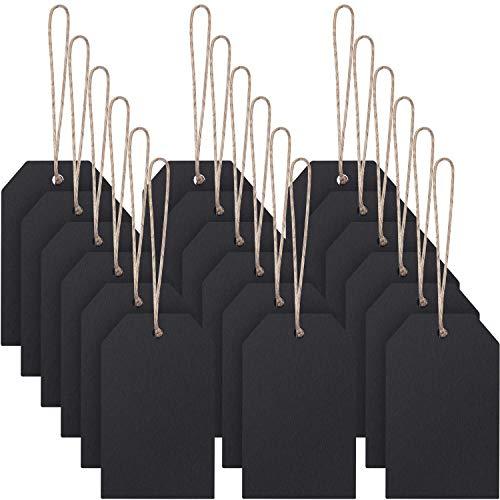40 Stücke Mini Tafel Anhänger Löschbare Hangen Tafel Doppelseitige Löschbare Tafel mit Schnur für Kinder DIY Handwerk Party Dekoration Preisschild Lieferungen