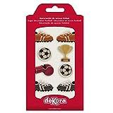 dekora Cupcakes o Tartas con Decoración de Azucar para Postres de Futbol-Pack de 8 Figuras Comestibles, Multicolor, Talla Única, 8