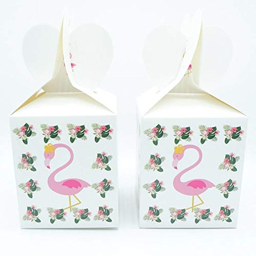 Tema Flamingo Cartoon Party Set Tavola Piatti Tovaglioli Tazza Banner Paglia Compleanno Contenitore di Caramella Bambino Doccia Decorazione del partito, Scatola Cnady 6 pz