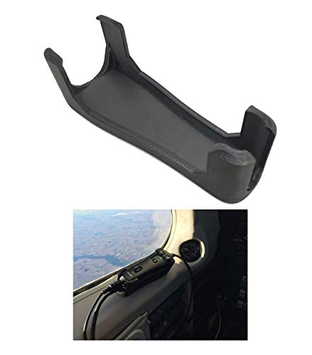 Bose A20 Aviation Headset Control Mount Clip Adapter Accessory Upgrade, Black, Better Than Shirt Clip, Dual Plug, 6-pin, U-174 Compatible