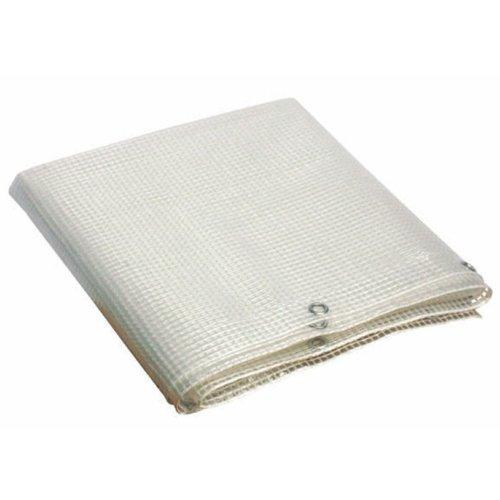Telo Pvc occhiellato multiuso copertura esterni colore bianco 3x3 mt