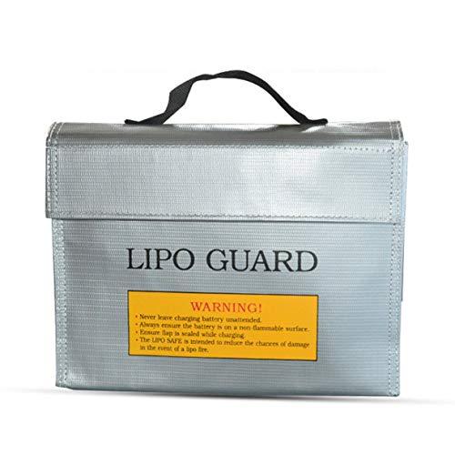 Morninganswer Bolsa de protección de batería de Litio portátil Bolsa a Prueba de explosiones a Prueba de Fuego Bolsa de Seguridad de batería de Lipo RC Bolsa de protección de Carga 240 * 65 * 180 mm