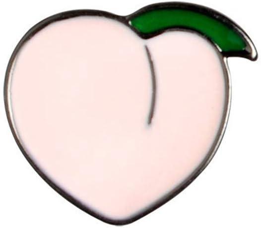 GloryMM Cartoon Mini Lapel Pin Animals Fruit Printed Brooch Badge Clothing Backpacks Jackets Collar,Peach