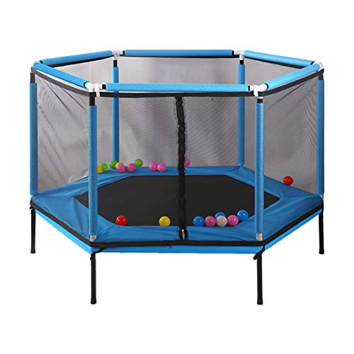Sale!! JiaHome Bouncers Trampoline Child Safety Game Fence Home Indoor Bounce Bed Children Trampolin...