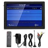 SHYEKYO Coche Televisión TV Digital portátil Memoria LCD de 14 Pulgadas y Tarjeta MMC