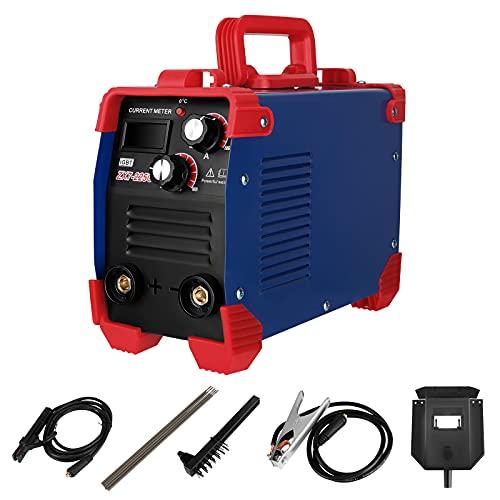 MATHOWAL ARC MMA 225 Amp Soldadora IGBT Digital Eléctrica Inverter Welder Portátil con Soporte de electrodo, pinza de trabajo, cable, conector, guantes, cepillo, varilla de soldadura