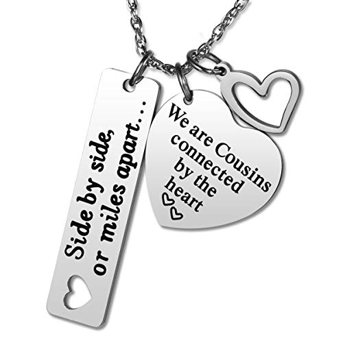 JZSTA Cousin Necklace Gifts for Women Cousins Make The Best Fiends We are Cousins Connected by The Heart