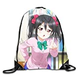 Nico Yazawa Leisure Travel Trend Drawstring Backpack Bag