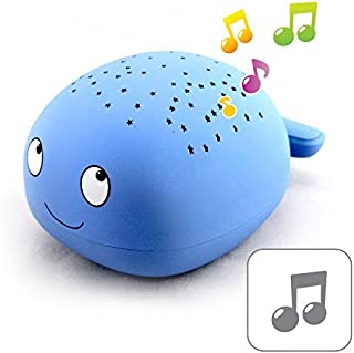 Easy Clean, Twilight Constellation Whale Projector with 4 Soothing Lullabies Sound Machine by Lumitusi [並行輸入品]