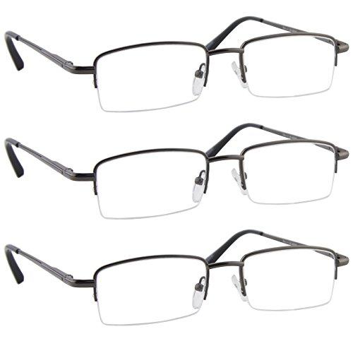 Reading Glasses - 9509 HP -VP3-Gunmetal-2.50