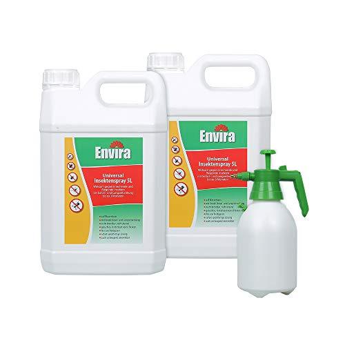 Envira Universal-Insektizid - Hochwirksames Insekten-Spray Mit Langzeitschutz - Auf Wasserbasis - 2 x 5L + 2L Sprüher