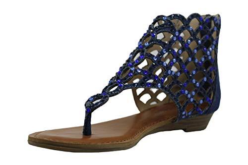 ZIGI SOHO Womens Melaa Split Toe Casual Gladiator Sandals