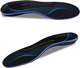 Plantar Fasciitis Shoe Inserts High Foot Arch Support Insoles Orthotics for Flat Feet Over-Pronation Pain Relief (US Mens 6-6.5 | Womens 8-8.5)