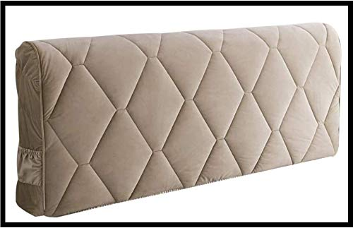 Cabeceros De Cama Funda Cover Funda Para Cabeceros De Cama De Tela Lado De La Cama Cubierta A Prueba De Polvo Decoración Del Dormitorio Lavable Para La,Champagne-120 * 65cm