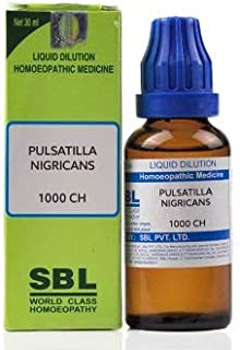 SBL Pulsatilla Nigricans 1M (1000 CH) (30ml) - Pack Of 1 Bottle & (Free St. George's Homeopathic ALOE VERA OINTMENT (1 pcs...