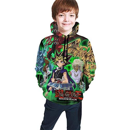 Kind mit Kapuze Sweatshirt Kid's/Youth Plus Velvet Hoodies Yu-Gi-Oh Children's 3D Print Winter Hooded Sweatshirt