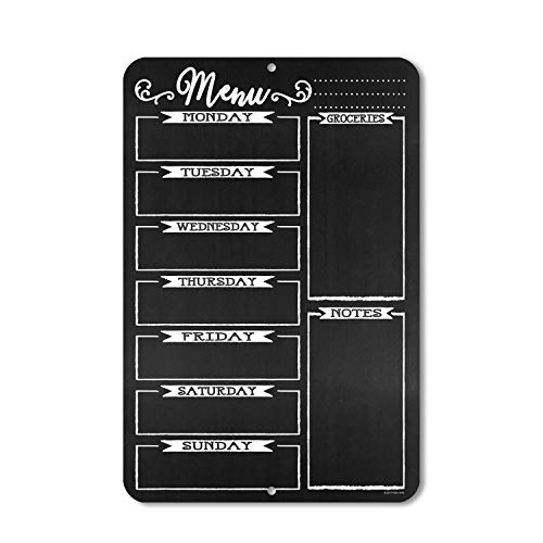 Honey Dew Gifts Chalkboard Style Menu Board 12 inch by 18 inch Tin Sign Durable and Easy Hanging on Wall Photo #3