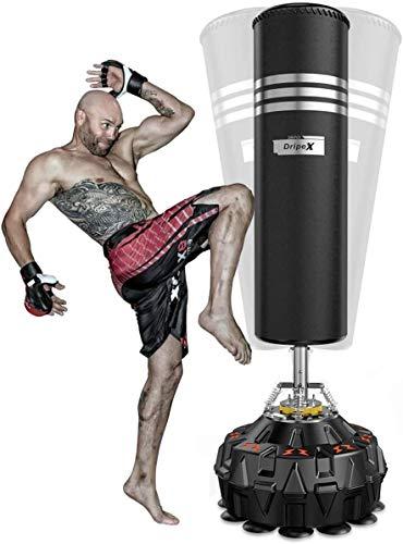 Dripex 【Version Améliorée】 Sac de Boxe Adulte, Sac de Frappe sur Pied Autoportant pour Taekwondo, avec Base en ABS, Idéal Cadeau d'Adulte ou d'Adolescent - 178 CM (Noir)