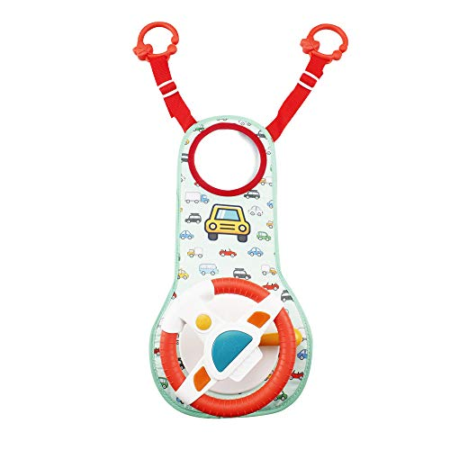 Happytime Musical Car Wheel Baby Toys in-Car Wheel Musical Activity Play Center Toy Baby's Travel Companion Entertain and Relax Easier Drive with Sounds and Lights for Baby