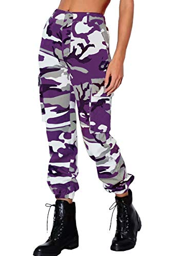 Lantch Damen Hosen Camouflage Casual Jogginghose Sporthose Military Freizeithose Streetstyle(pu,l)