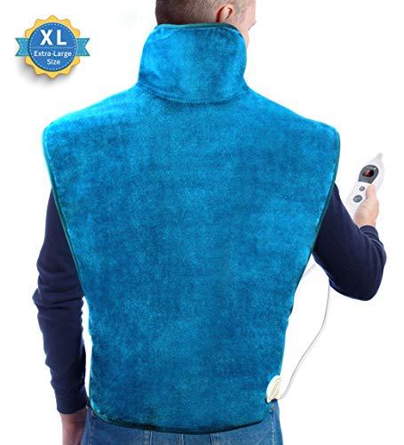 Hosome 60 x 90 cm Heizkissen für Rücken Schulter Nacken Abschaltautomatik Wärmekissen 6 Stufen Temperatur Rückenwärmer Heizdecken für Entlastung von Muskeln
