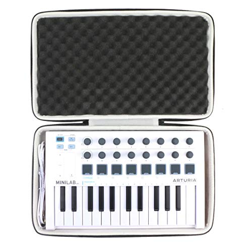 Khanka Hard Travel Case Replacement for Arturia MiniLab MkII 25 Slim-Key Controller