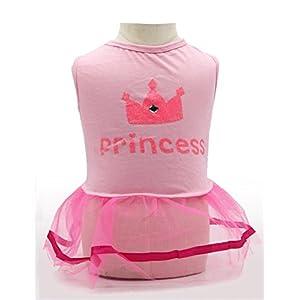 DroolingDog Dog Dresses for Small Dogs Girl, Large, Pink