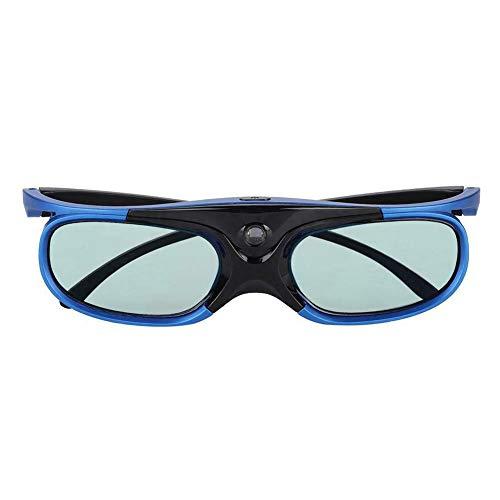 Cicony 3D DLP Link Brille, wiederaufladbare 144Hz Active Shutter Brille für alle 3D DLP-Link Projektoren - Acer, ViewSonic, BenQ Vivitek, Optoma, Panasonic, Dell, Viewsonic(Blue)