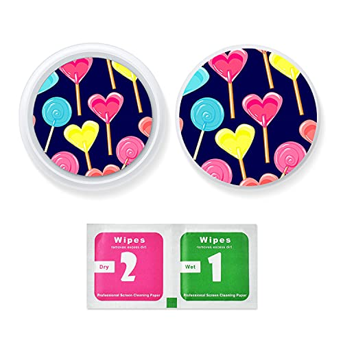 Skin Sticker for AirTags - MATOP Protective Film Screen Protector Compatible for AirTag Fits with Airtag Cover Keychains Loops Holders Stylish Anti-Scratch Decorative Stickers Colorful (airtag-D1015)