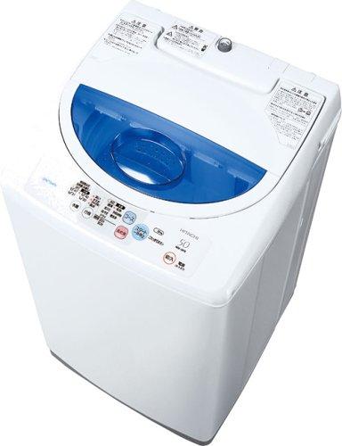 HITACHI 2ステップウォッシュ風乾燥 全自動洗濯機 5kg 白 NW-5FR W