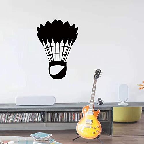 Pegatinas de pared clásicas de arte deportivo de bádminton, utilizadas para la decoración del hogar, pegatinas de decoración de la pared de la sala de estar A7 58x85cm