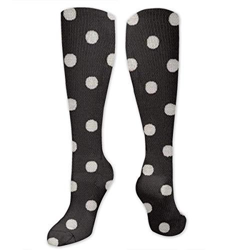 Needyo Strümpfe Kompression,Laufsocken,Polkadots Unisex Long Tube Knee High Soft Classicl Socks Stockings für Sport,Medi,Flug, Reisen,Schwangerschaft & Medizinische