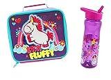 Juego de almuerzo y botella para niños, diseño de unicornio de Gru, mi villano favorito