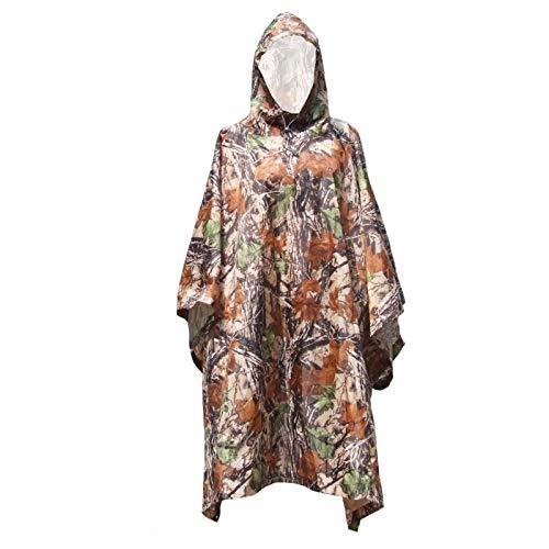 LSB-Hunting, Vêtement de Chasse Unisexe léger en Polyester Camouflage randonnée Alpinisme pour Homme Femme Voiture équitation Poncho Jungle Camouflage
