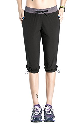 Nonwe Women's Quick Dry Outdoor Hiking Shorts Black M
