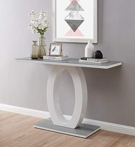 Furniturebox UK Giovani Modern Contemporary Designer Console Table With...