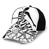 FULIYA Gorra de béisbol estructurada, silueta de mujer en estilo tribal nativo, accesorios de moda, sombrero de papá para hombres y mujeres, perfil bajo ajustable