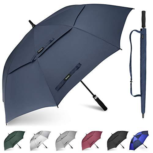 Gonex parapluie golf automatique plus grand anti-UV avec double auvent coupe-vent résistant à...