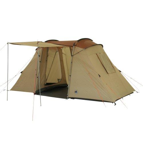 10T Outdoor Equipment, Tenda Vis- A- Vis Delano 4, Beige/Kastanienbraun, 4 Persone