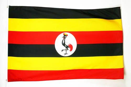 AZ FLAG Flagge Uganda 150x90cm - UGANDISCHE Fahne 90 x 150 cm feiner Polyester - flaggen