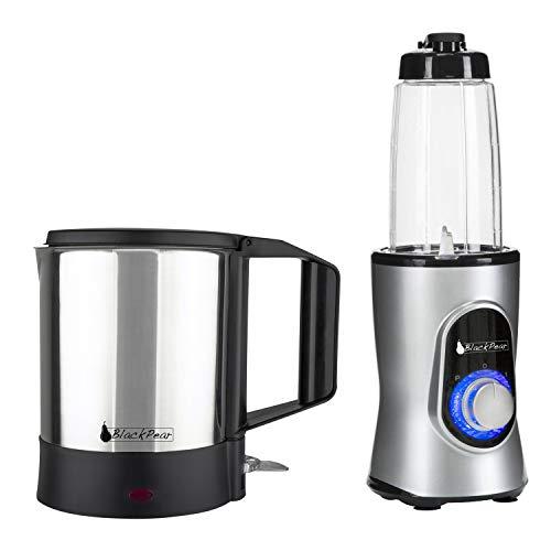 Bouilloire finition inox 1100W - 1L - Blackpear BSF 1019 + Blender Black Pear BBL100 220W capacité 0.6L gris