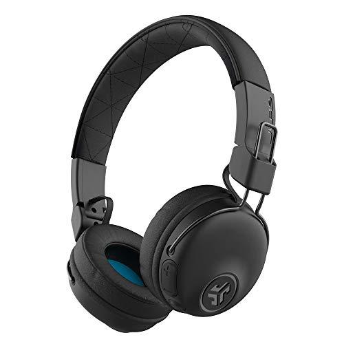 JLab Studio Bluetooth Wireless On-Ear Headphones   30+ Hour Bluetooth 5 Playtime   EQ3 Sound   Ultra-Plush Faux Leather & Cloud Foam Cushions   Track and Volume Controls   Black