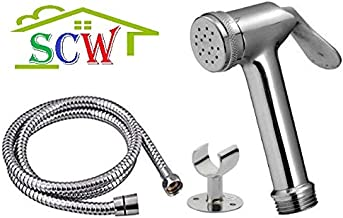 SCW TOILET BATHROOM KITCHEN TAP HEALTH FAUCET USE TO HAND SPRAY HAND FAUCET - Complete Full Set - Brass Material Gun (T9)